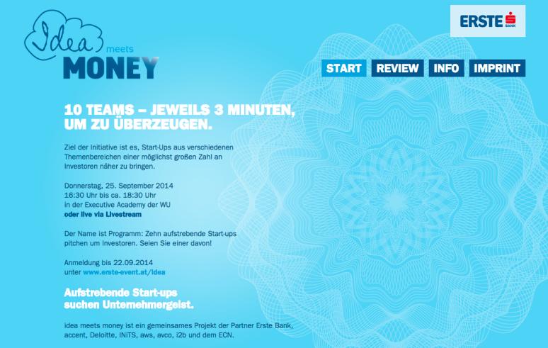"""Präsentieren und Überzeugen bei """"Idea meets money"""""""